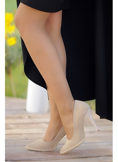 Pembe Potin Ayakkabı Ten